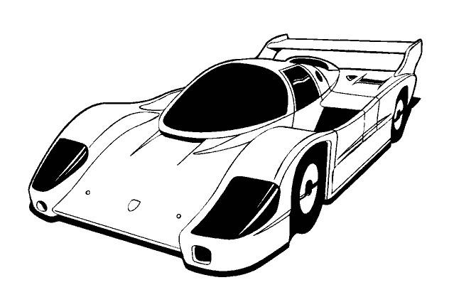 Coloriage et dessins gratuits Auto de course Maserati à imprimer