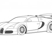 Coloriage Auto de course Maybach