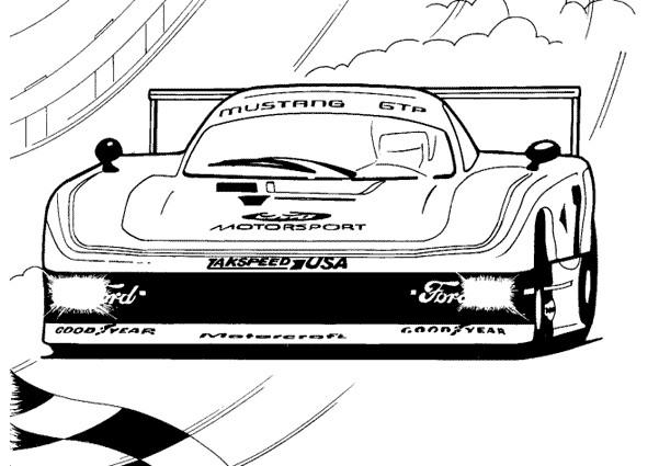 Coloriage et dessins gratuits Auto de course Nascar à imprimer
