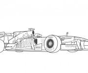 Coloriage et dessins gratuit Auto de course pour adulte à imprimer