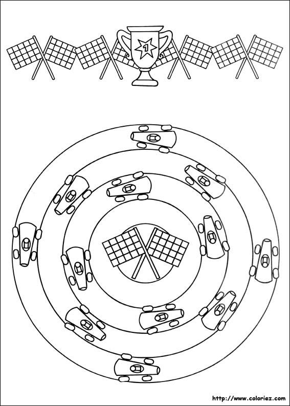 Coloriage et dessins gratuits Auto de course pour enfants à imprimer