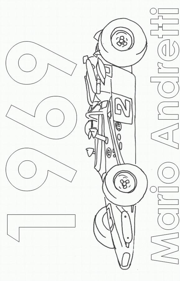 Coloriage et dessins gratuits Auto de course tout puissant à imprimer