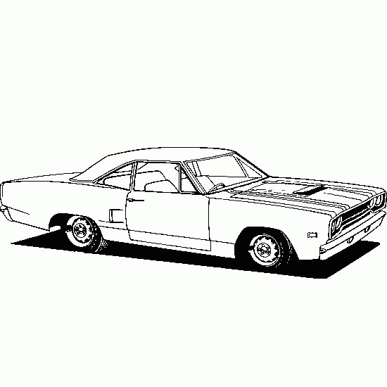 Coloriage et dessins gratuits Auto de course vecteur à imprimer