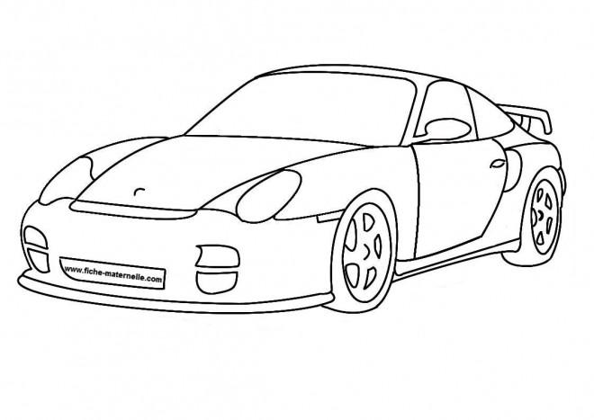 Coloriage auto de luxe dessin gratuit imprimer - Dessin de car ...