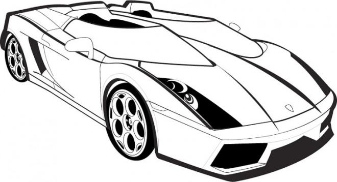 Coloriage et dessins gratuits Auto de Sport Lamborghini à imprimer