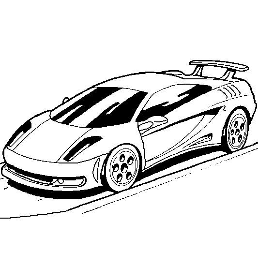 Coloriage et dessins gratuits Auto de Sport vectoriel à imprimer