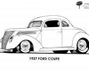 Coloriage Auto Ford Coupé