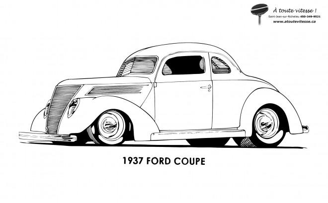 Coloriage et dessins gratuits Auto Ford Coupé à imprimer