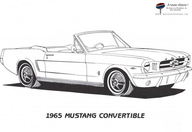 Coloriage auto mustang convertible dessin gratuit imprimer - Dessin voiture stylisee ...