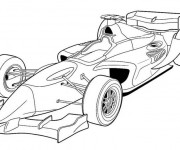 Coloriage Automobile de Course Formule