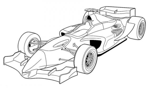 Coloriage et dessins gratuits Automobile de Course Formule à imprimer