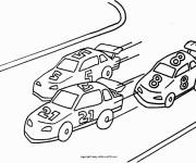 Coloriage et dessins gratuit course de Voitures à imprimer