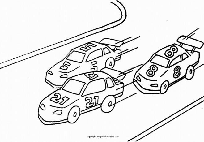 Coloriage et dessins gratuits course de Voitures à imprimer