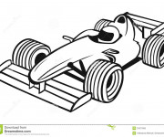 Coloriage Course Formule 1