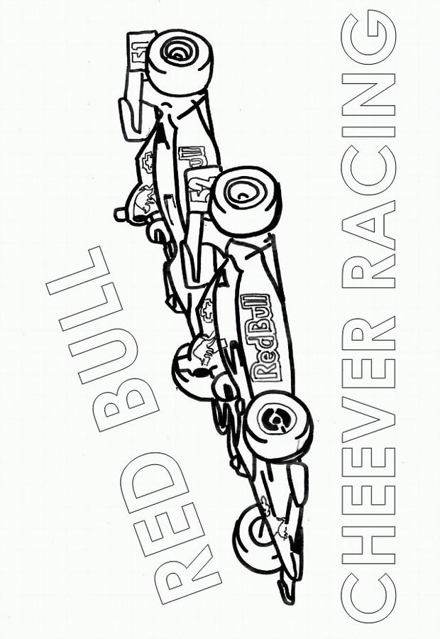 Coloriage et dessins gratuits Formule 1 de Course à imprimer