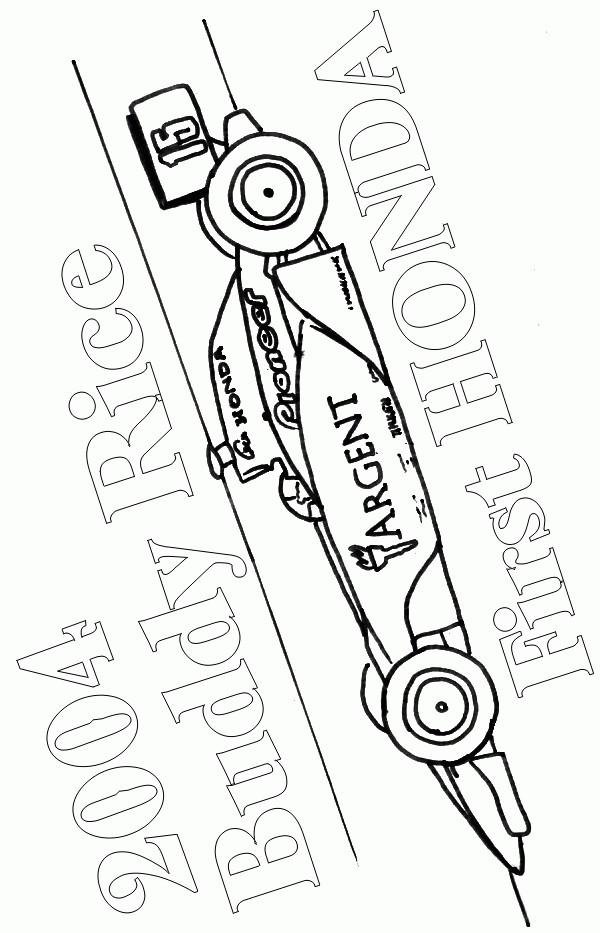 Coloriage et dessins gratuits Voiture de course à colorier à imprimer