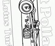Coloriage et dessins gratuit Voiture de course stylisée à imprimer