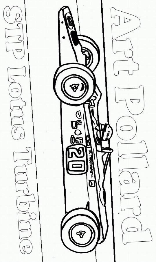 Coloriage et dessins gratuits Voiture de course stylisée à imprimer