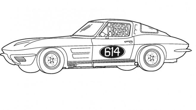 Coloriage et dessins gratuits Voiture de Sport coupé à imprimer