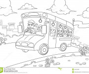 Coloriage Autobus 19