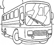 Coloriage Autobus 7