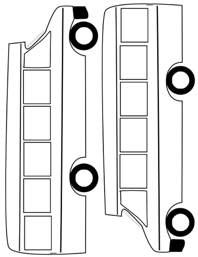 Coloriage et dessins gratuits Autobus à assembler et à colorier à imprimer