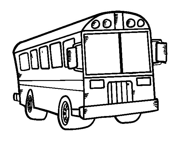 Coloriage Autobus Américain Dessin Gratuit à Imprimer