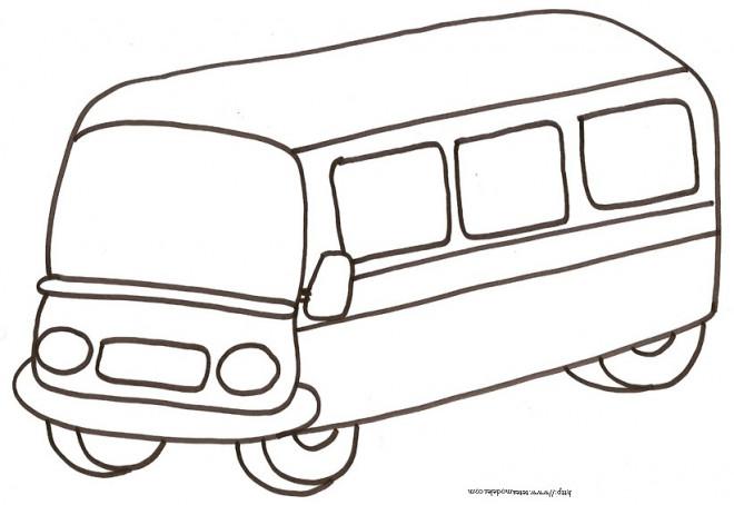 Coloriage et dessins gratuits Autobus au crayon à imprimer