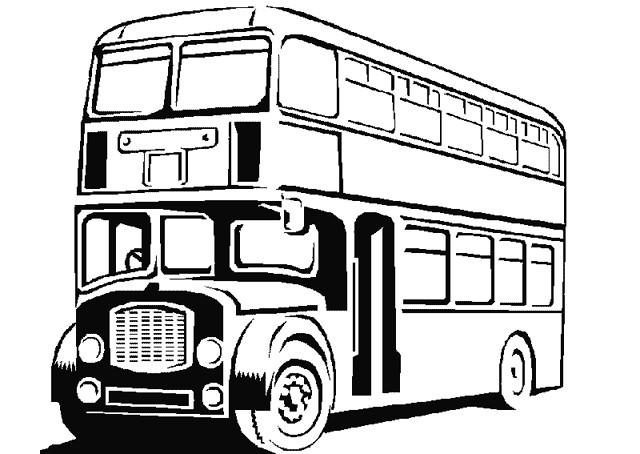 Coloriage et dessins gratuits Autobus britannique classique à imprimer
