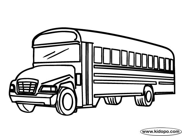 Coloriage et dessins gratuits Autobus d'école maternelle à imprimer
