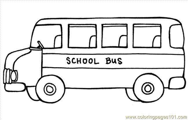 Coloriage et dessins gratuits Autobus d'école sur ordinateur à imprimer