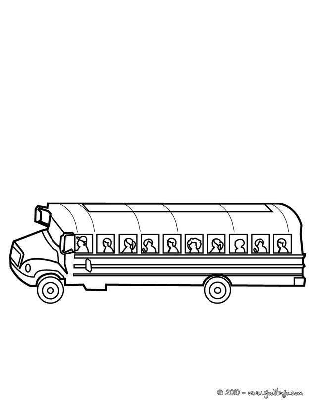 Coloriage et dessins gratuits Autobus en ligne à décorer à imprimer
