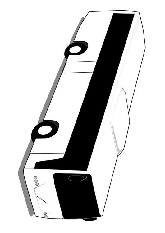Coloriage et dessins gratuits Autobus en noir et blanc à imprimer