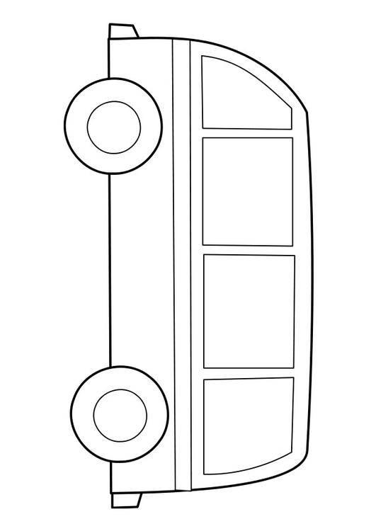 Coloriage et dessins gratuits Autobus facile à découper à imprimer