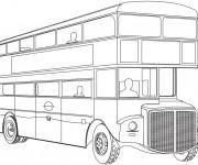 Coloriage et dessins gratuit Autobus londonien à imprimer