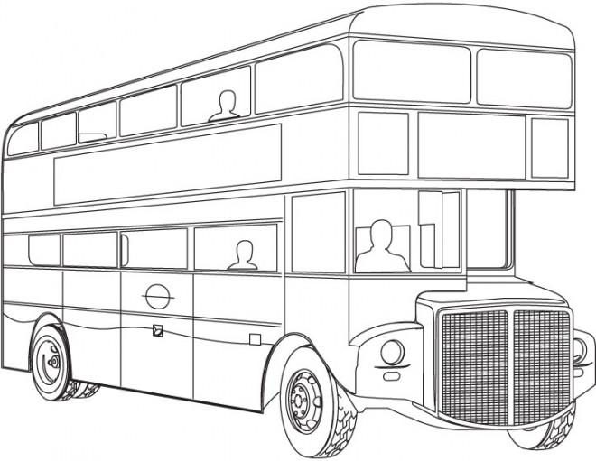 Coloriage et dessins gratuits Autobus londonien à imprimer
