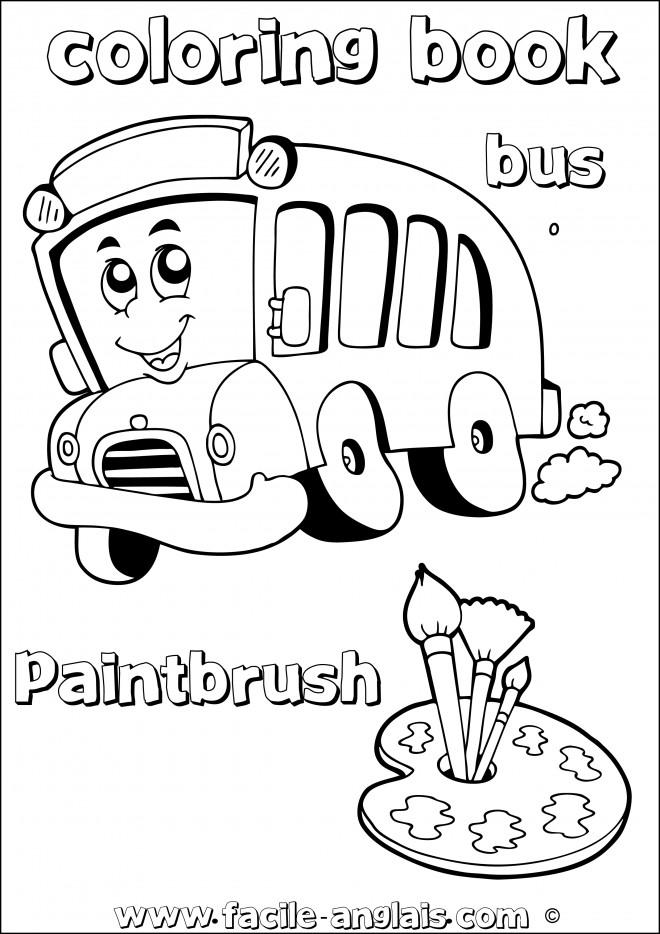 Coloriage et dessins gratuits Autobus magique à imprimer