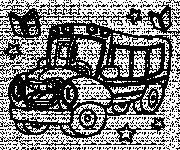 Coloriage et dessins gratuit Autobus qui rigole à imprimer