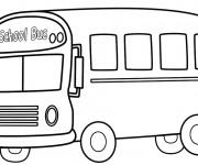 Coloriage Autobus scolaire à décorer