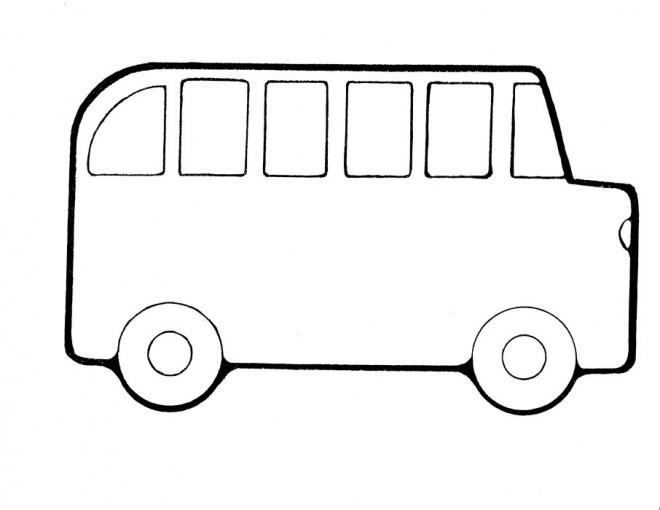 Coloriage et dessins gratuits Autobus simple à décorer à imprimer