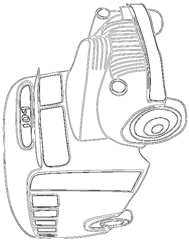 Coloriage et dessins gratuits Autobus stylisé à imprimer