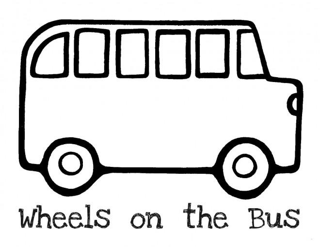 Coloriage et dessins gratuits Autobus sur les roues à imprimer