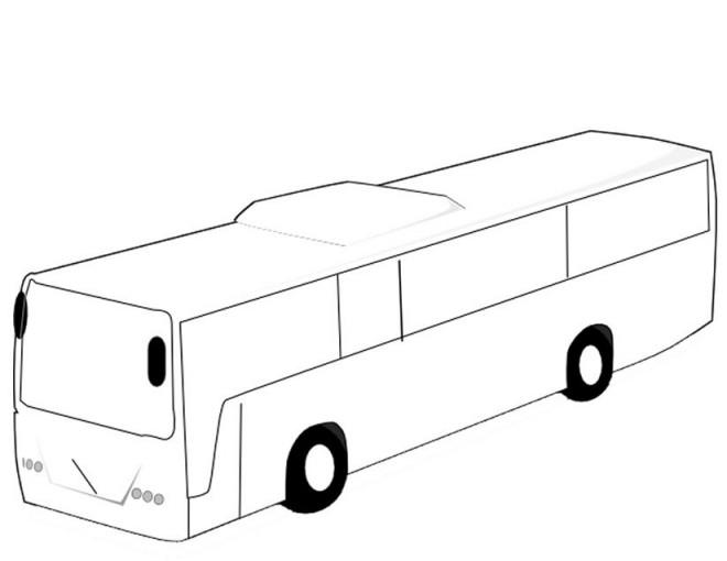 Coloriage et dessins gratuits Autobus Transport publique à imprimer