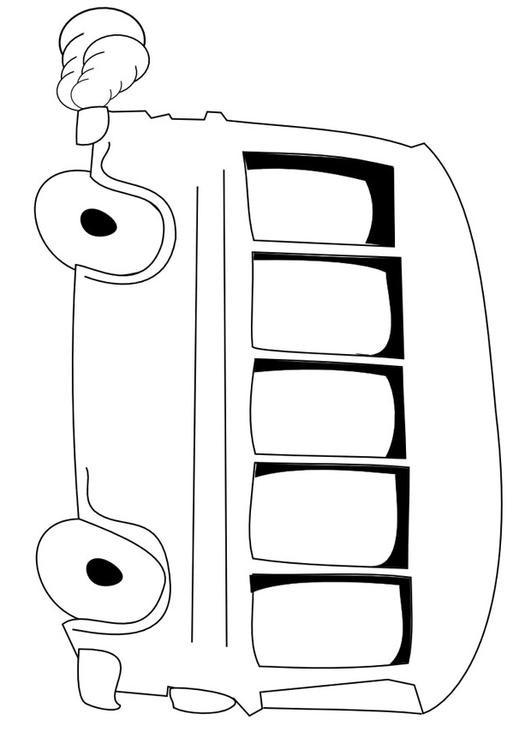 Coloriage et dessins gratuits Autobus vecteur à télécharger à imprimer