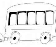 Coloriage Autobus vectoriel