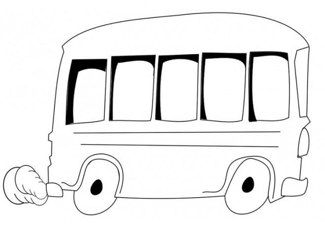 Coloriage et dessins gratuits Autobus vectoriel à imprimer