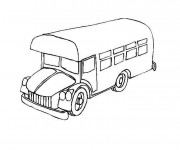 Coloriage Bus facile