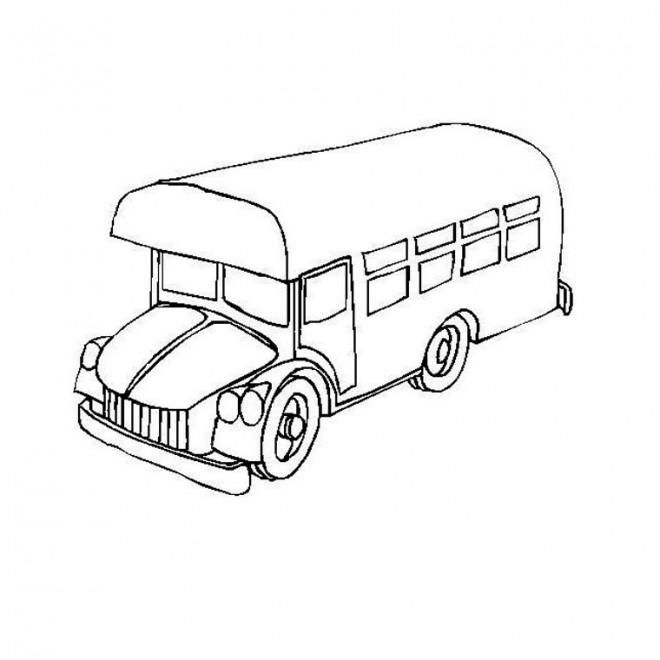Coloriage et dessins gratuits Bus facile à imprimer