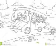Coloriage et dessins gratuit Bus maternelle à imprimer