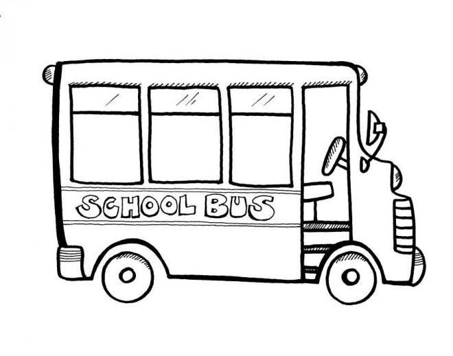Coloriage Bus Scolaire Facile Dessin Gratuit à Imprimer